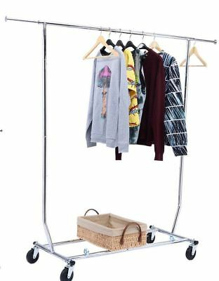 Salesman Clothing Rack - Rolling Collapsible