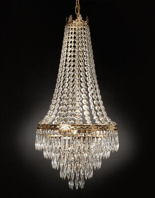 Lighting Crystal Lamps (French Empire Crystal Chandelier Lighting H30XWd17 4 Lights Ceiling lamp)