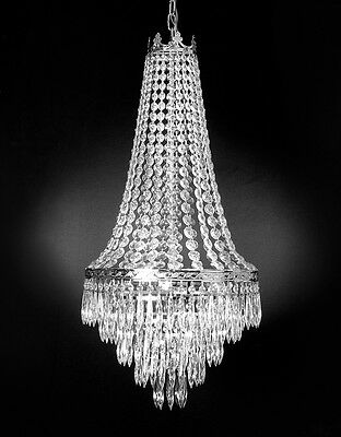 FRENCH EMPIRE CRYSTAL CHANDELIER LIGHTING 4 LIGHTS FIXTURE PENDANT CEILING LAMP