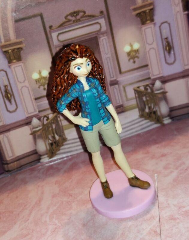 Merida Casual Princess Figure Cake Topper Disney Ralph Breaks Internet Brave PVC