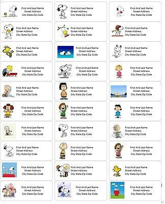 Peanuts Snoopy Return Address Labels