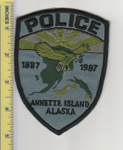 US Police Patch Annette Island Alaska Police Department Tactical