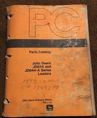 John Deere Jd644 Jd644-a Series Loader Parts Catalog Pc-1110