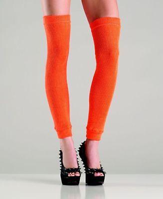 Orange Leg Warmers (Leg Warmers Thigh High Be Wicked Orange New Women's Workout Fashion 711)