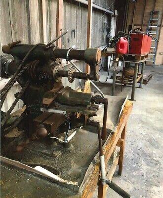 Burke Tool Machine 120a 4 Table Model Mill Cutting