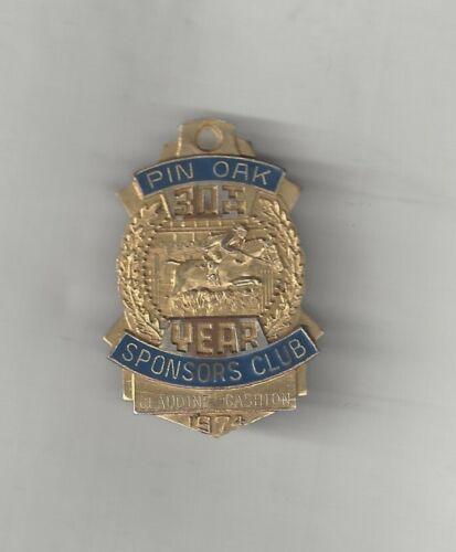 1974 PIN OAK SPONSORS CLUB 30TH YEAR CHARITY HORSE SHOW EQUESTRIAN PIN MEDAL TX