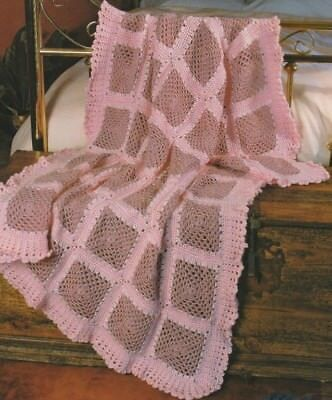 Crochet Pattern ~ Lovely Lace Afghan ~ Instructions