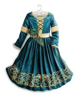 Merida Costumes For Girls (NWT Disney Store Merida from Brave Girls Princess Costume Dress  4,7/8,)