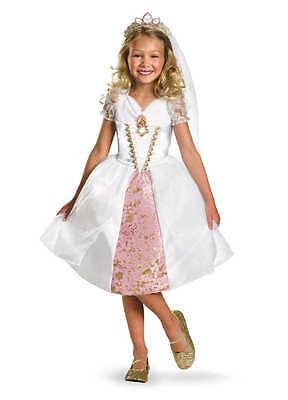 DISNEY TANGLED RAPUNZEL WEDDING DRESS GOWN COSTUME with TIARA VEIL 3T-4T NWT](Rapunzel Wedding Dress Costume)