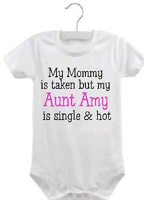(personalized Aunt baby one piece aunt bodysuit infant aunt clothing shower gift )