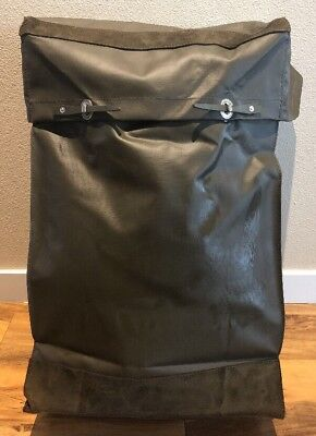 Vintage Swiss Army Military Rubberized Waterproof Rucksack Backpack 272150a7260c0