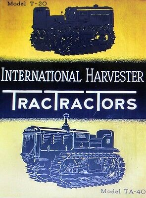 T-20 TA-40 International TracTracTor Crawler Farm Tractor COLOR Sales Brochure for sale  Shipping to Canada