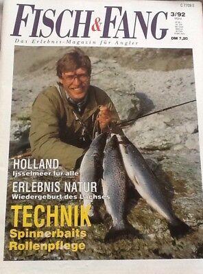 Fisch & Fang - Das Erlebnis-Magazin für Angler 3/92: Holland-Ijsselmeer für alle