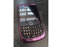 Purple Blackberry Curve Phone