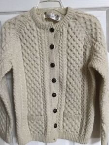 Irish Wool Hand Knit Sweater