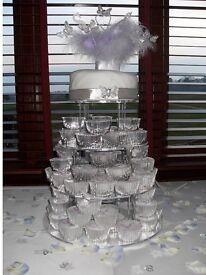 5 tier acrylic cake stand