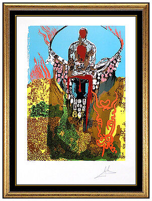 Salvador Dali The Bullfighter Hand Signed Original Color Lithograph Surreal Art