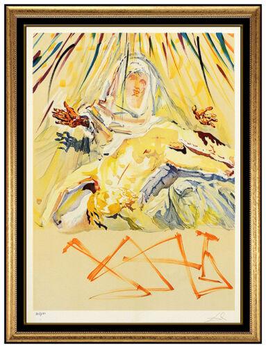 Salvador Dali La Pieta Nera Color Lithograph Hand Signed Surreal Madonna Artwork