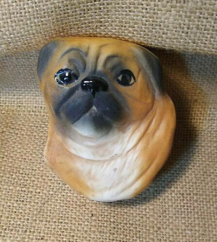 Pug Dog Trinket Jewelry Box Carol Halmy Signed