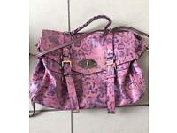 Mulberry Alexa peony pink leopard print bag