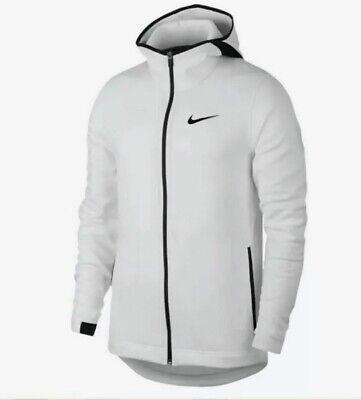 NWT NEW Nike Basketball Men's Sz M Dri Fit Showtime Jacket 925612-100 White