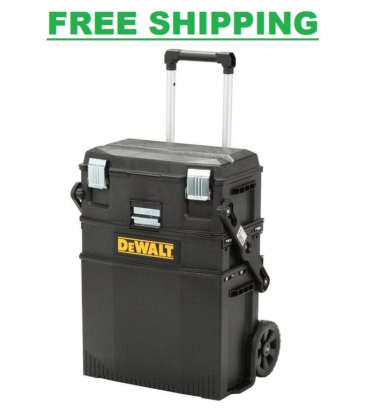 NEW DeWALT Black Utility Rolling Portable Toolbox Cart Chest