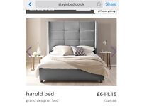 King size bed grey
