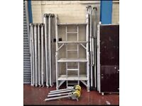 Boss Youngman Aluminium Scaffold Tower 6.2m Working Height Fully Complete