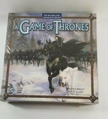 Game of Thrones Board Game Fantasy Flight Games 1st Edition RARE NEW (Game Of Thrones Board Game 1st Edition)