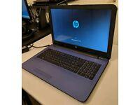 "HP Pavilion 15.6"" Blue 2TB Hard Drive storage"