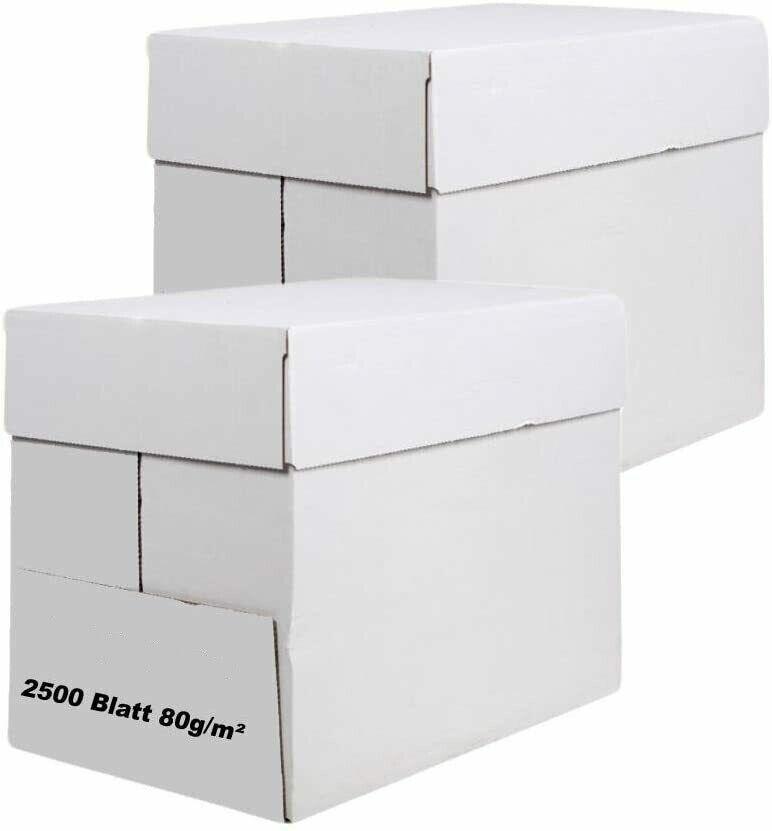 5000 Blatt RECYCLING Papier Druckerpapier Faxpapier Kopierer Maxi Box A4 SOFORT