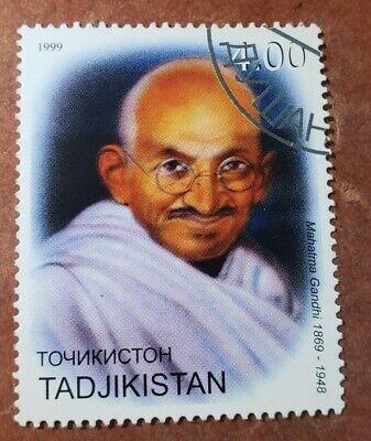 GM63 Tajikistan 1999 Gandhi 4.00 USED STAMP