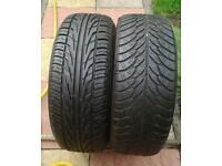 Car tyres part worn 2 off 195/55 R15