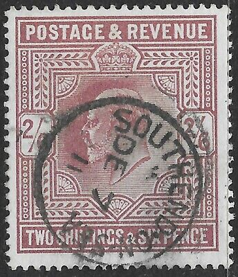 King Edward VII Stamp SG260 2s/6d Purple Southend on Sea CDS r8567