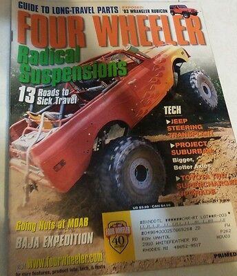 Four Wheeler Magazine August 2002 Wrangler Rubicon Project Suburban Toyota Trd