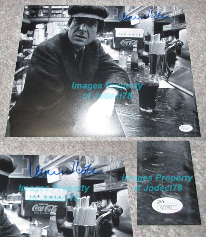 *Coca-Cola* Leonard Cohen Signed 11x14 Vintage Black & White Photo JSA COA