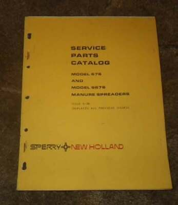 New Holland Model 676 Manure Spreader Illustrated Parts Manual 1975 Reduced