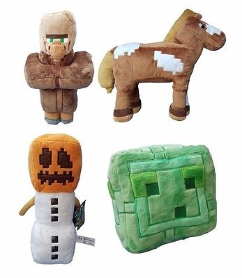 Large Official Minecraft Soft Toy 2017 New Plush Slime Horse Snow Villager 12""