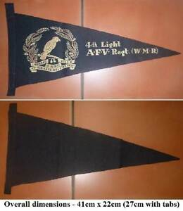 4th WAIKATO MOUNTED RIFLES Regiment Pennant - Rare. Wembley Cambridge Area Preview