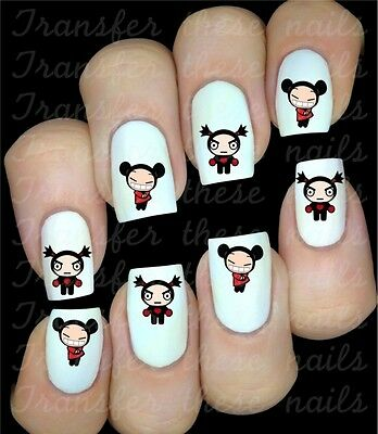 Pucca et Garu Stickers autocollant ongles manucure nail art water decal déco