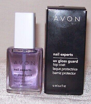 AVON! Nail Experts UV Gloss Guard Top Coat. Purple.Full Sz. Women/Jrs. NEW! NIB.