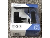 Pama universal twin usb/car chargers Brand New
