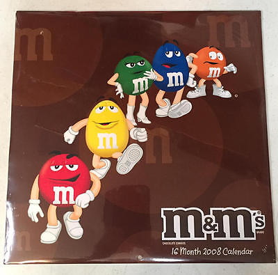 M&M's Candy 2008 Wall Calendar NEW Unused Bright Colors Studio 18 Large (Studio 18 Calendars)