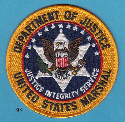US MARSHAL DEPARTMENT OF JUSTICE POLICE SHOULDER PATCH (Color).