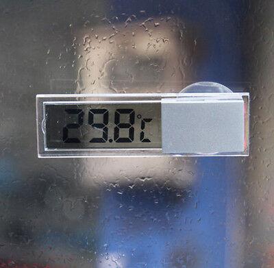LCD Digital Temperature Meter Indoor Home Outdoor Suction Cup Car Thermometer EL