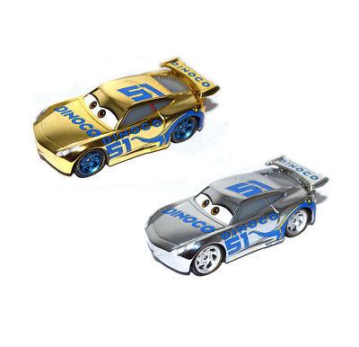 Disney Pixar Cars 3 Diecast Gold & Silver #51 Racer Cruz Ramirez 1:55 Loose Car