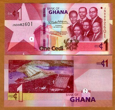Ghana, 1 Cedi, 2019, P-New, UNC > Upgraded security features