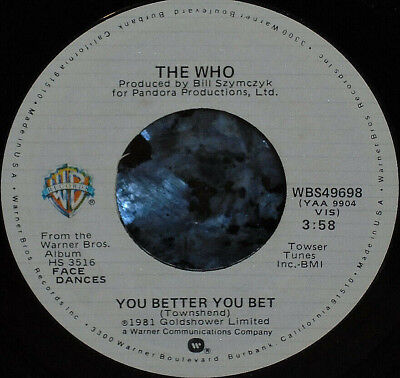*<* THE WHO! 1981 #18 HIT