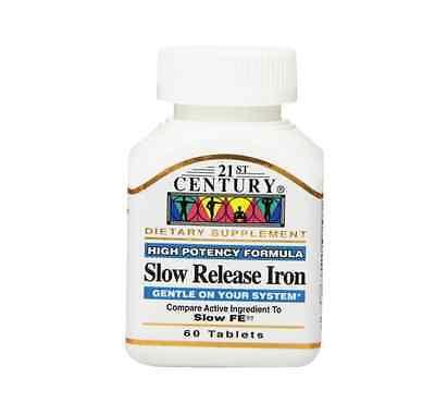 21St Century Slow Release Iron Tablets 60 Ea