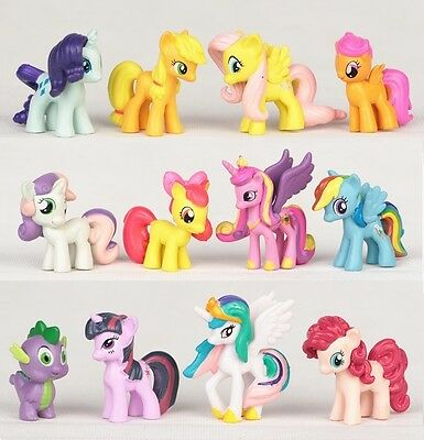 My Little Pony Rainbow Dash Playset 12 Figure Cake Topper * USA SELLER Toy Set (My Little Pony Rainbow)
